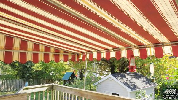 Attractive A. Hoffman Awning In Baltimore 410 685 5687 A Beautifully Striped Sunbrella  Fabric Deck Awning Has Added An Extra Room And The Owners Of The Home Now  Have ...