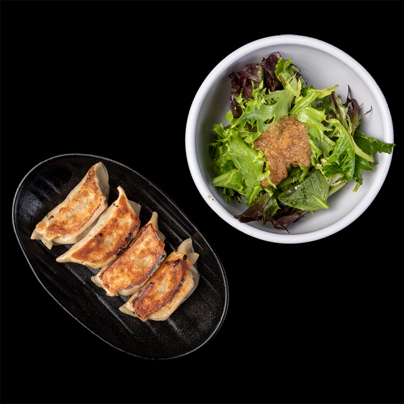 Click to expand image of Pork Gyoza (4 pcs) & Salad