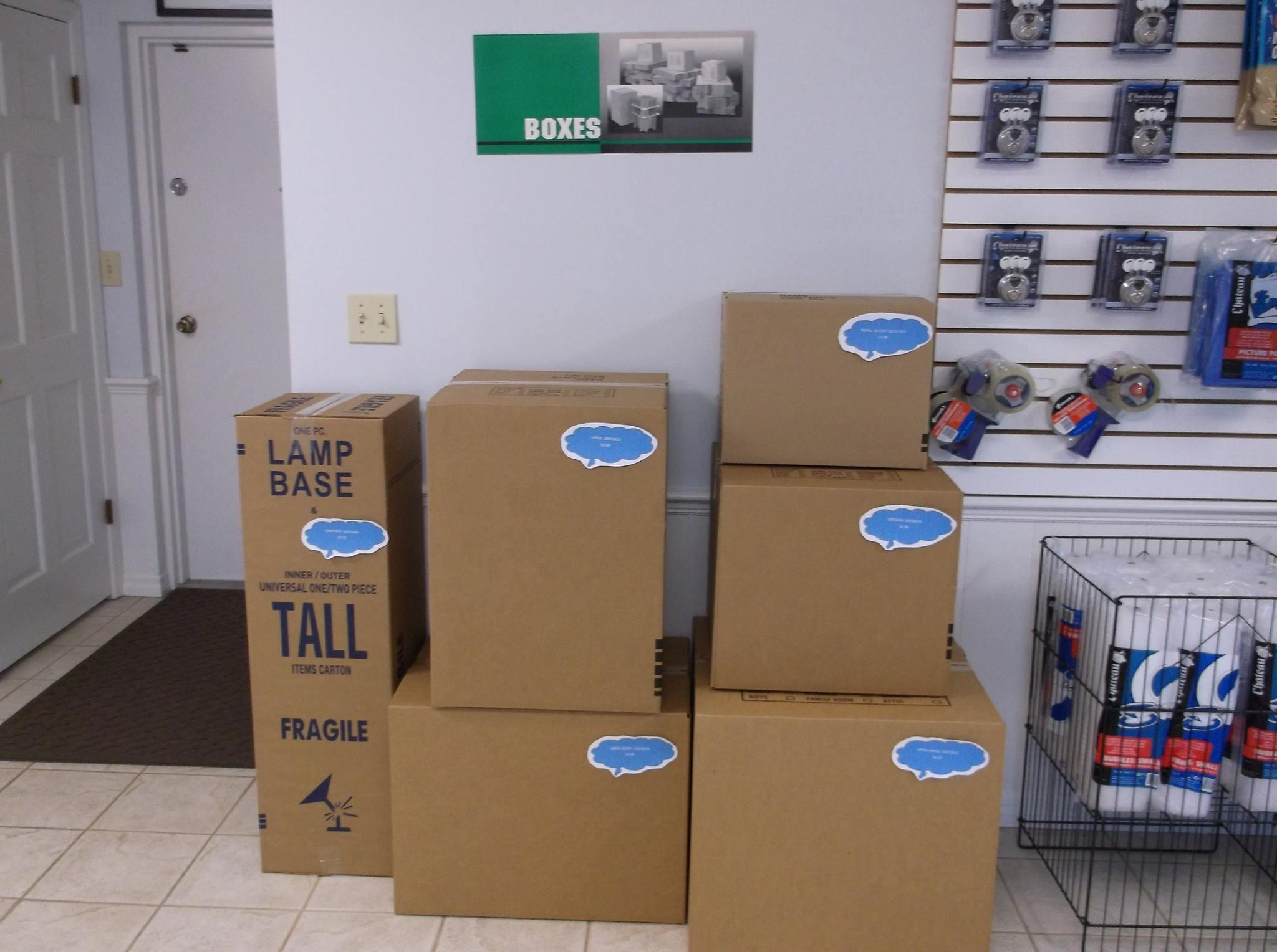 Moving & Packing Supplies Sold Onsite