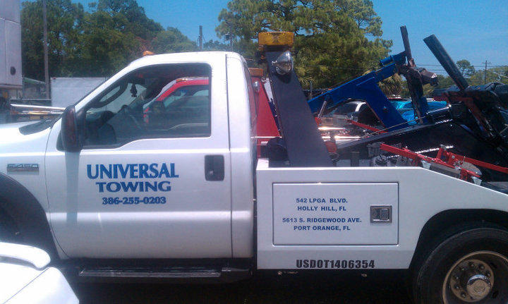 Universal Towing is headquartered in Holly Hill, Fl serving Daytona Beach and surrounding areas.