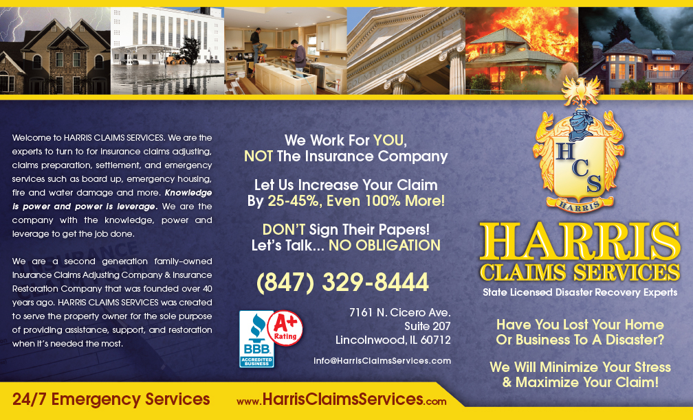 Harris Claims Services - We work for you, not the insurance companies