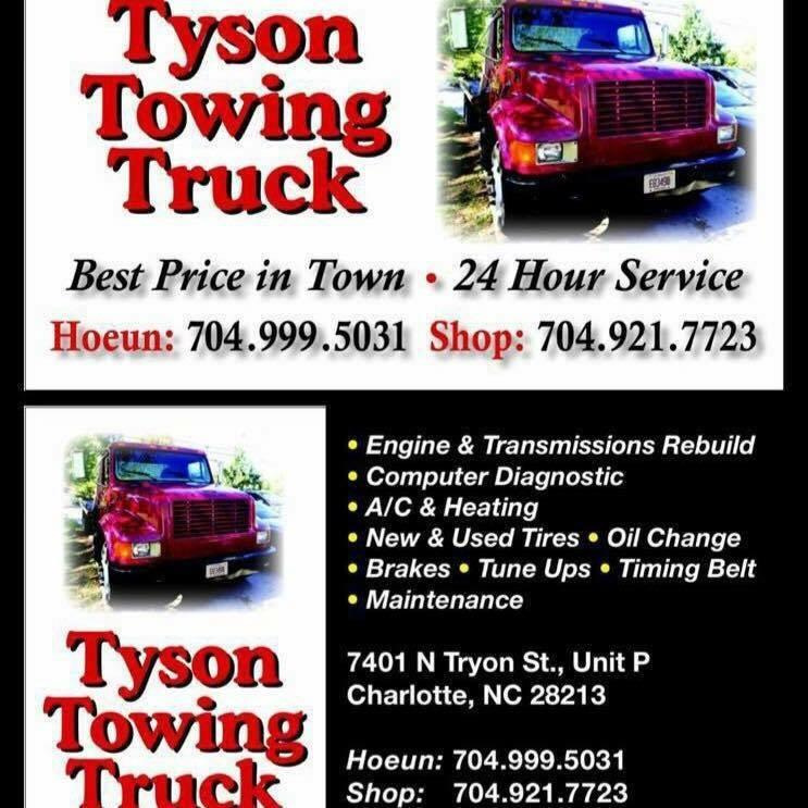Tyson towing in charlotte nc 28213 citysearch for Tyson motors service hours