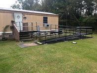 Allen Cates and the Amramp South Carolina team installed this modular wheelchair ramp for a veteran near Charleston, SC.