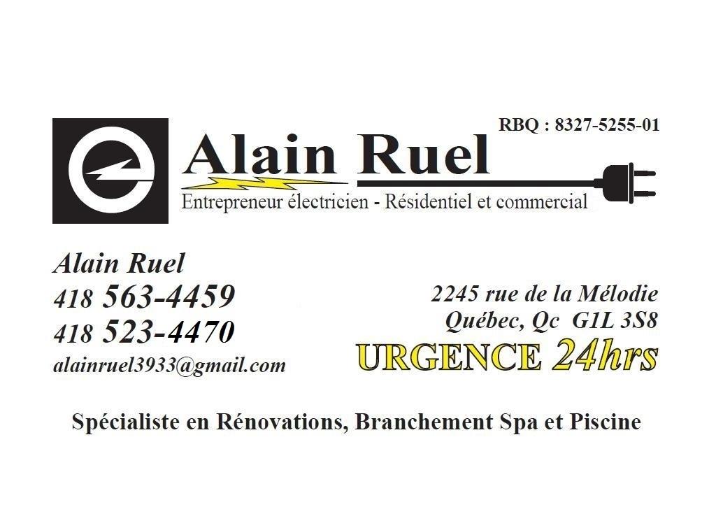 Alain Ruel Entrepreneur Électricien