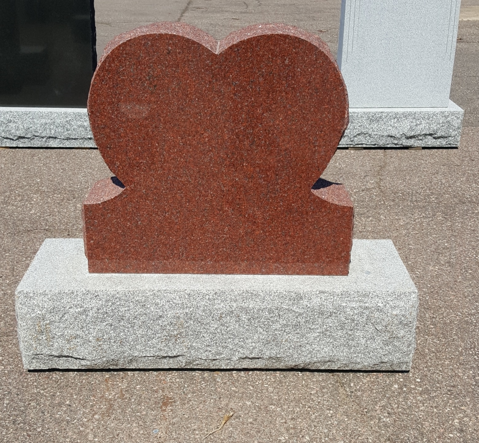 Campbell Monument in Pembroke: A single heart shape monument.  Let us personalize it for you.
