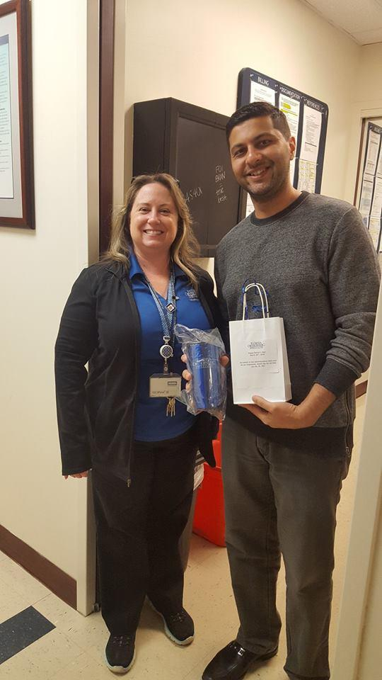 Dr. Mir with Florida Orthopaedic Institute Staff Member
