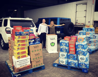 Some of our team (@dmill1010 & @gelamaro) dropping off our final donation to the @houstonfoodbank this evening. Total weight just for today's final donation: 3,036 pounds!!! This has been such an amazing month of collecting food, raising money, & volunteering with the HFB. We have been so inspired by our team members! #FoodFromTheBar