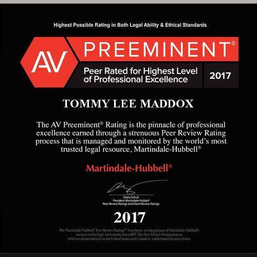 Tommy Lee Maddox PC