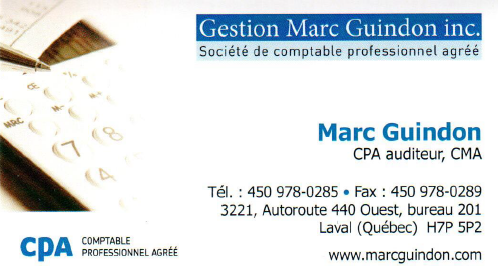 Gestion Marc Guindon Inc à Laval