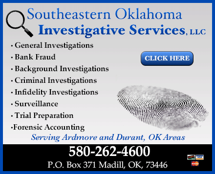 Southeastern Oklahoma Investigative Services, LLC - ad image