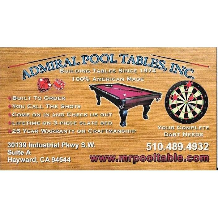 Admiral Pool Tables Inc. - Hayward, CA - Sports Clubs