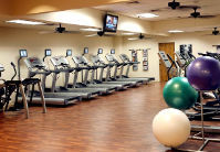 For your cardiovascular workout, our fitness center features treadmills, elliptical machines and stationary bikes.