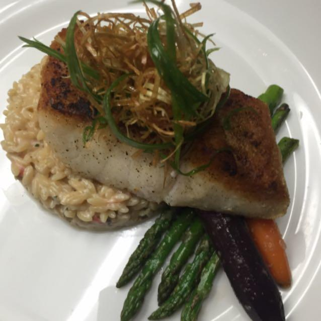 Felling Special tonight... Try our Sea Bass Special with asparagus and orzo rice. #lagunabeach #peruvianfood #foodgasm #wine #craftbeer #art #goodservice #goodfood #finedinning