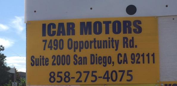 iCAR MOTORS - San Diego, CA 92111 - (858)275-4075 | ShowMeLocal.com