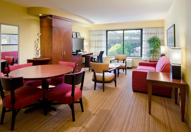 Enjoy our suites with extra room and a separate seating area.