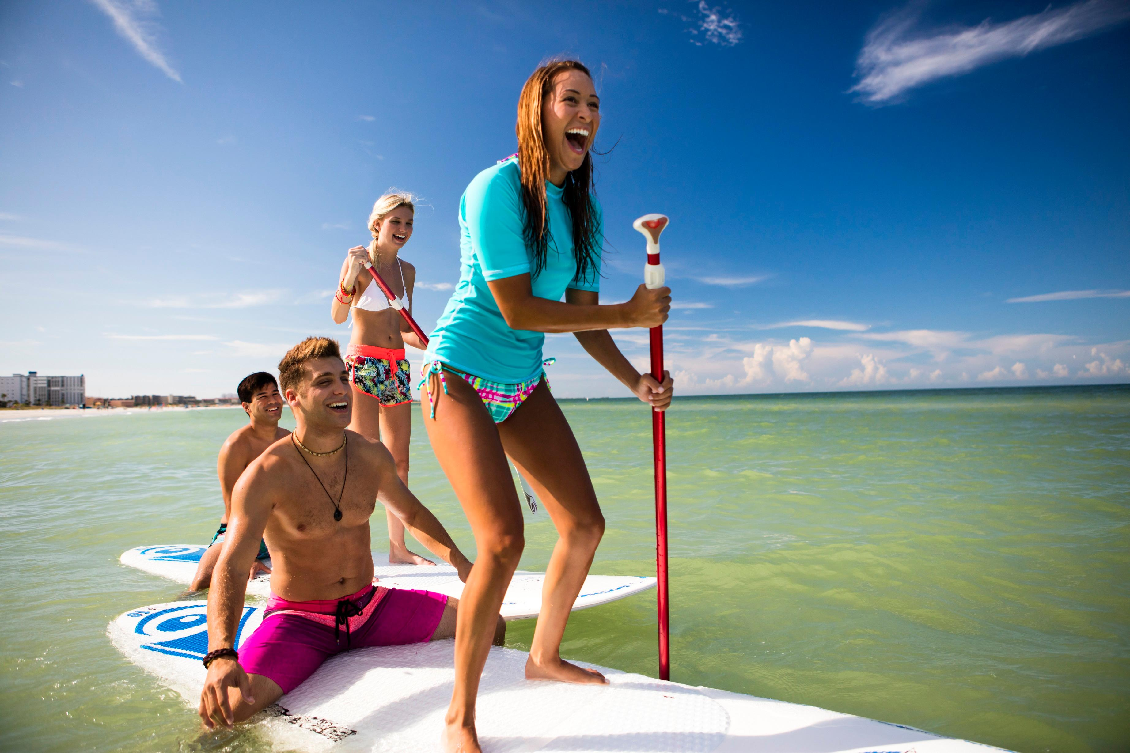 Paddleboard rentals are available.