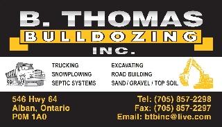 B Thomas Bulldozing Inc