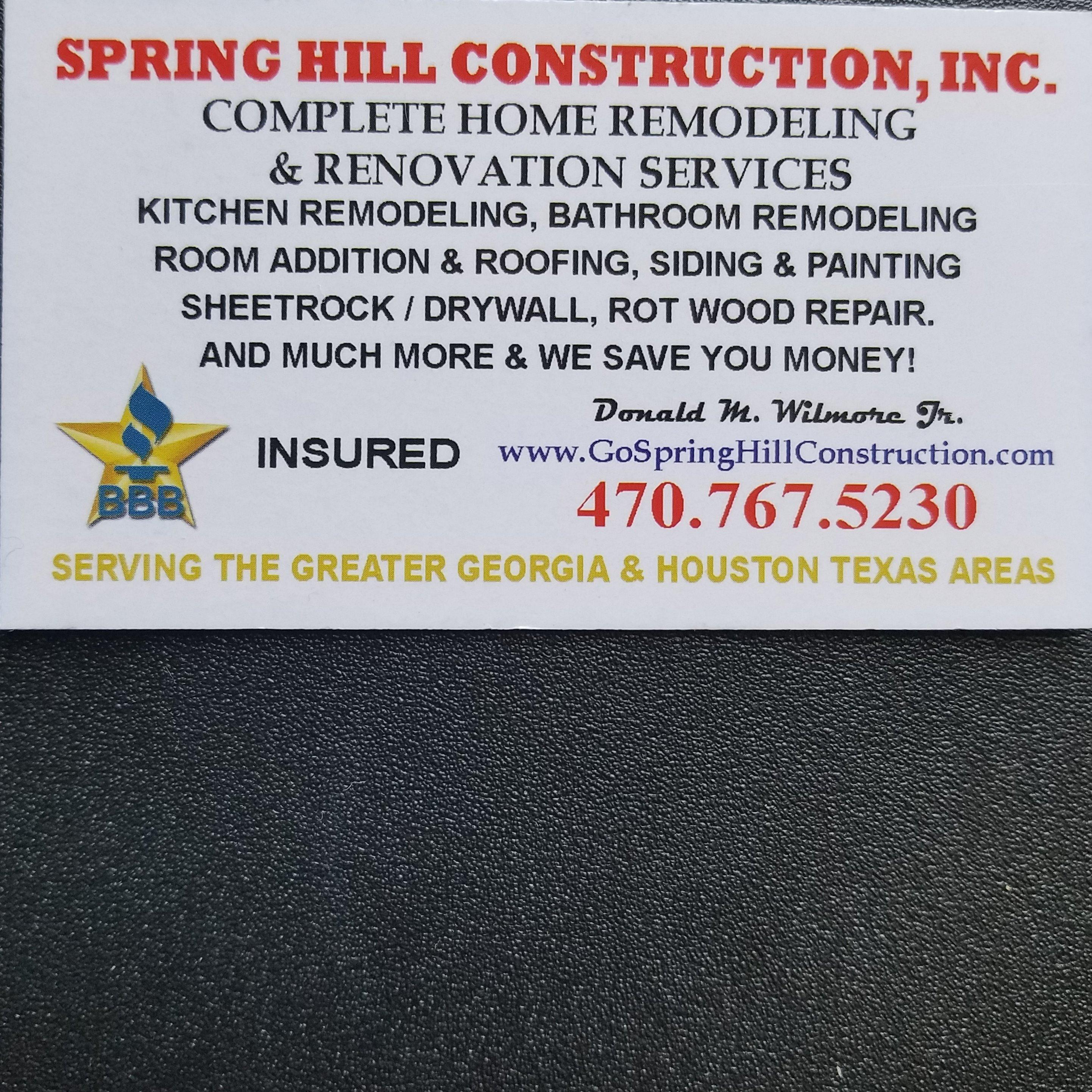 Spring Hill Construction, Inc.