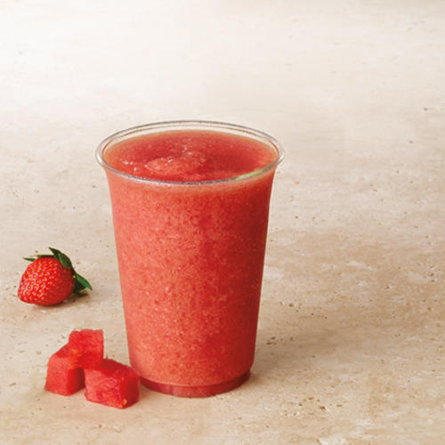 Try our summer favorite, the Frozen Watermelon Strawberry Lemonade.