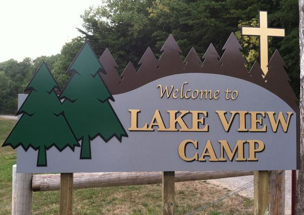 Lake View Camp outdoor sign