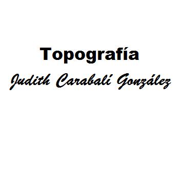 Topografía Judith Carabalí González