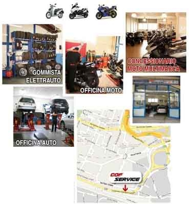 Cof service concessionario moto officina gommista for Officina moto italia