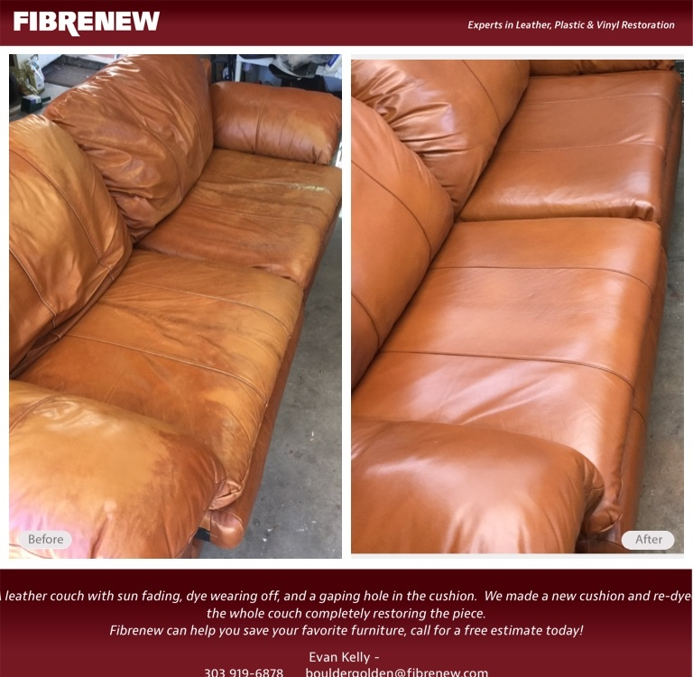 Leather Sofa Restuffing: Fibrenew Of Boulder Golden