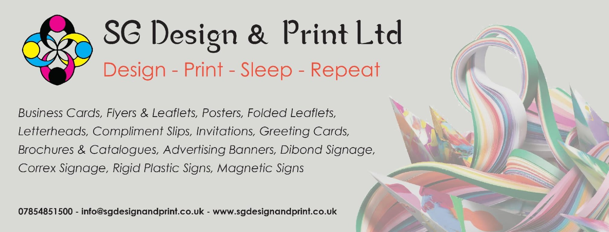 Sg design print ltd printers general in liverpool l37 8eg 192 sg design print ltd reheart Images