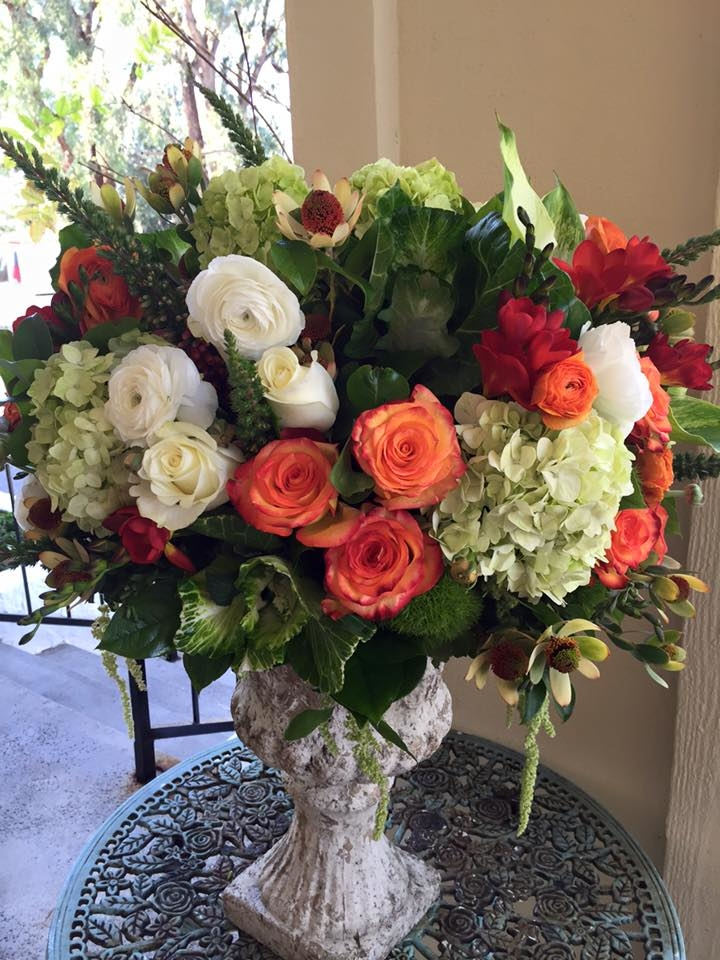Florentyna's A Fine Flower Company Offers Fall Colored Floral Arrangements