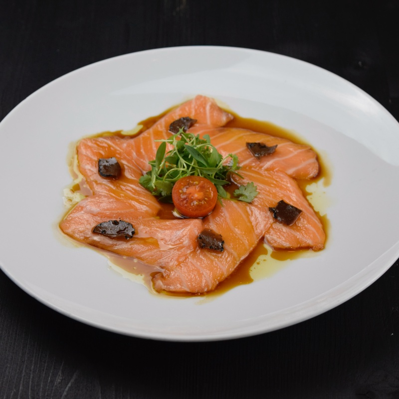 Click to expand image of Salmon Truffle w/ truffle soy sauce