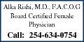 Allka Rishi MD F.A.C.O.G.