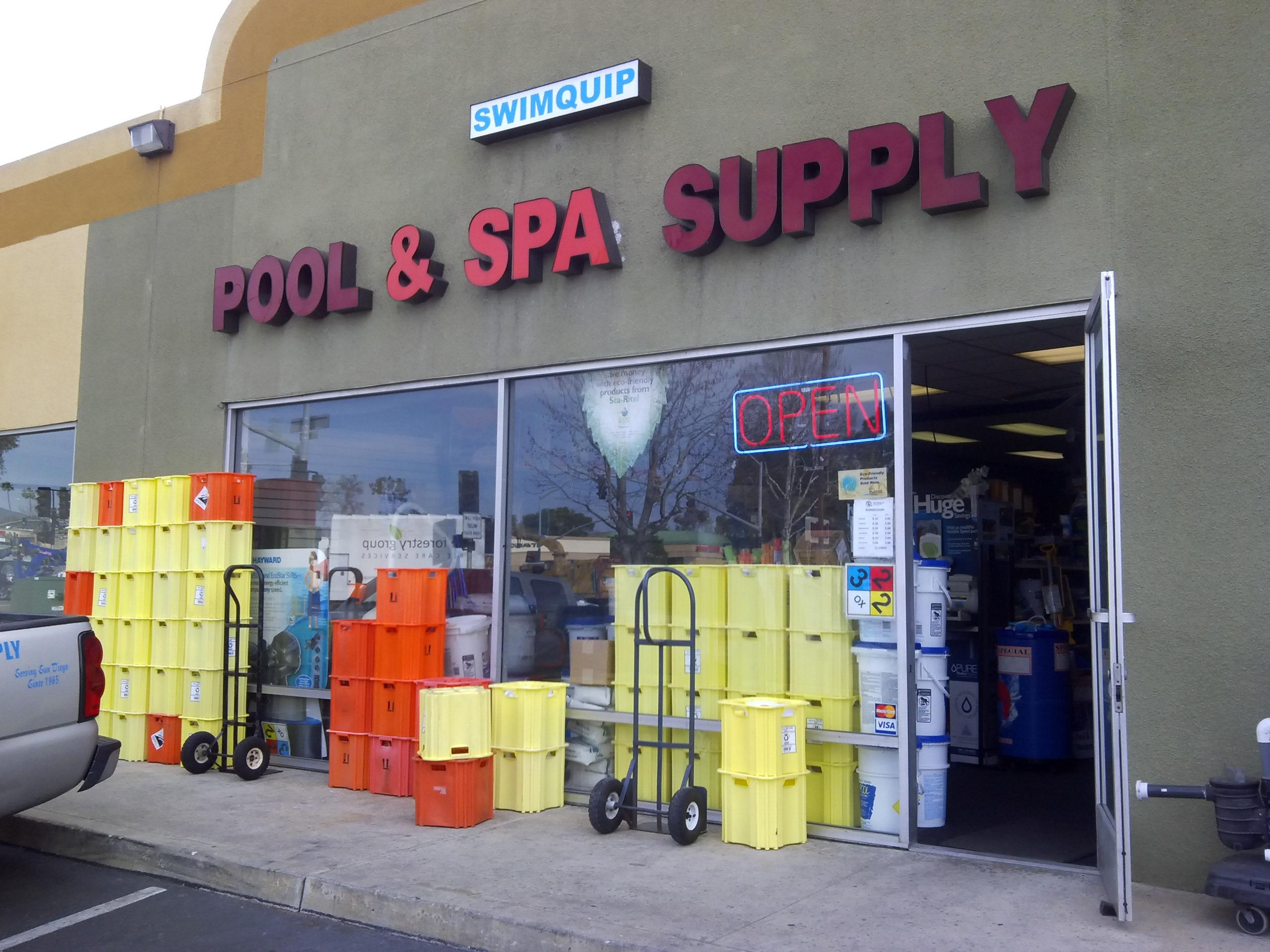 Swimquip pool spa supply center in san diego ca 619 for Pool supplies