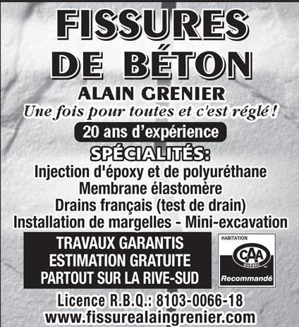 Fissure De Béton Alain Grenier in Saint-Constant