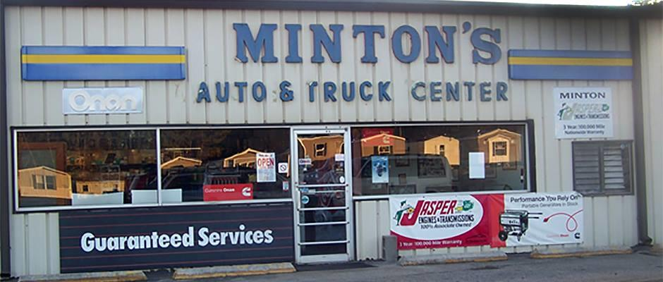 At Minton Auto & Truck Center we offer a wide variety of services for all your car, truck, RV, and generator needs. We've got you covered; whether it's time for routine maintenance, repair, or modification.