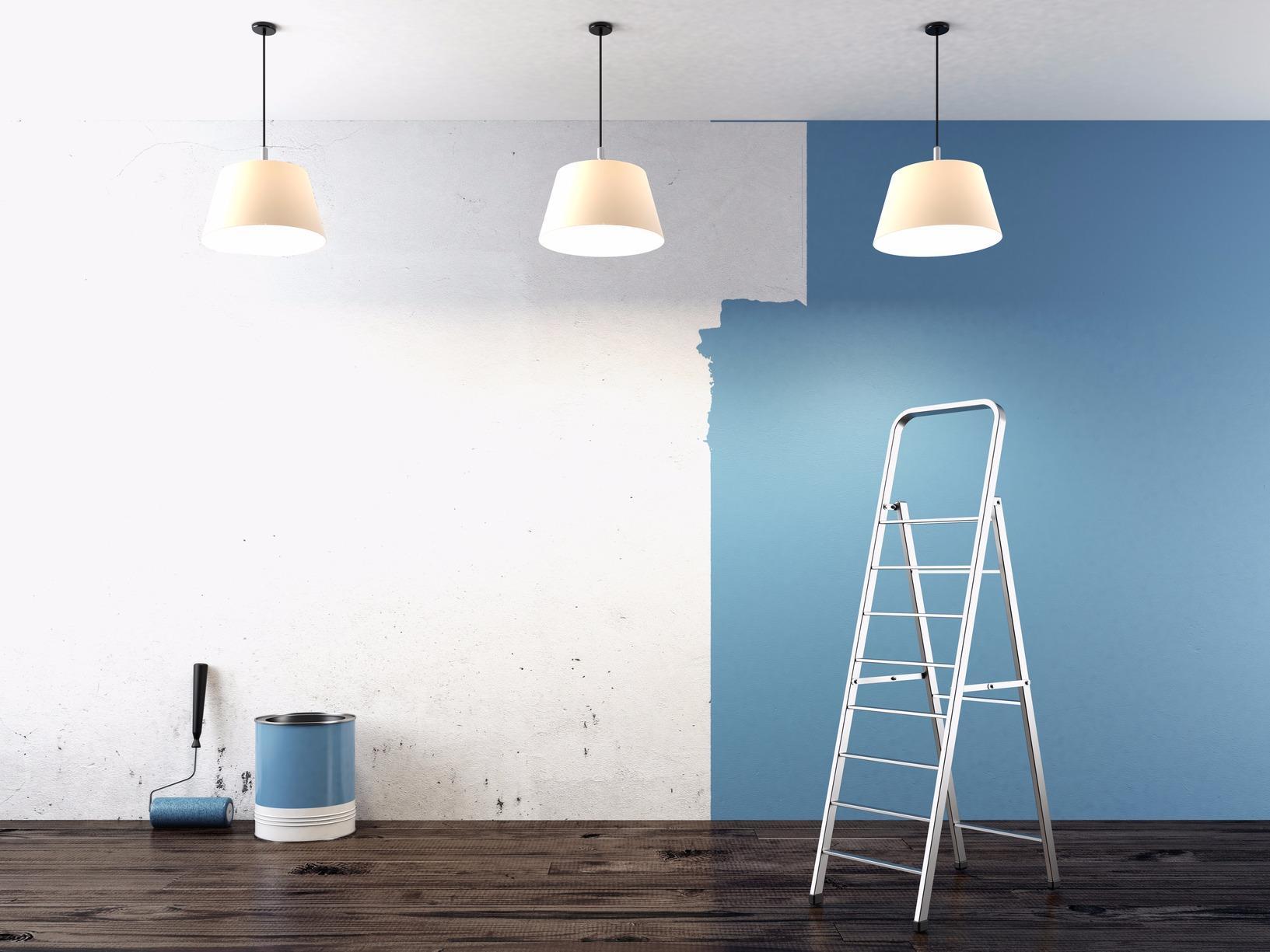 Blue Line Painting image 2