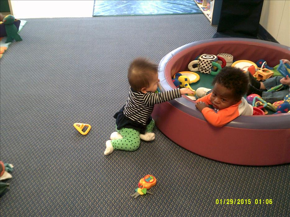 We love free play in the Infant classroom!