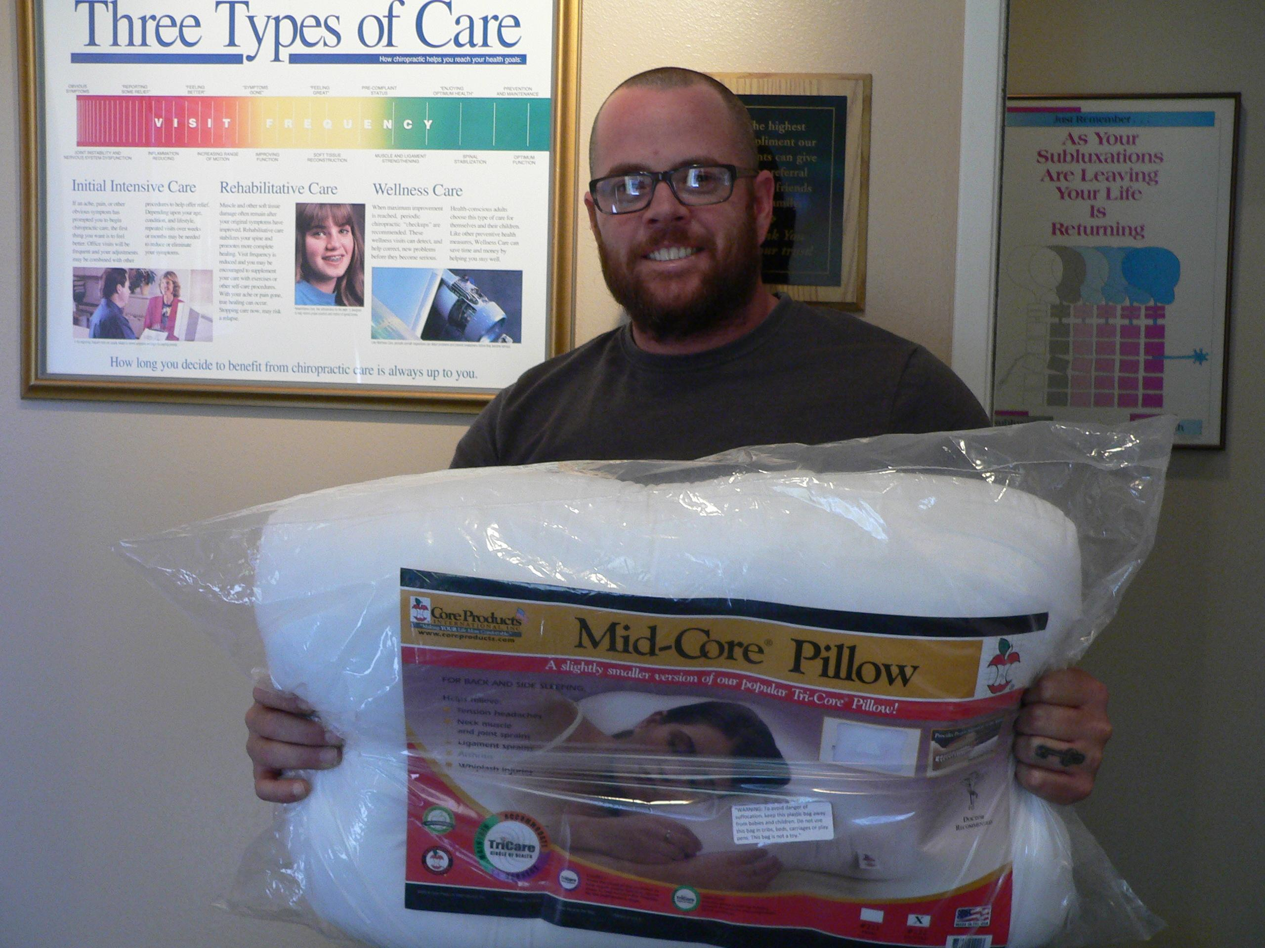 WINNER Randy Collins !!! Our September Winner of the Tri-Core Pillow is Randy Collins.  Congratulations Randy !!!