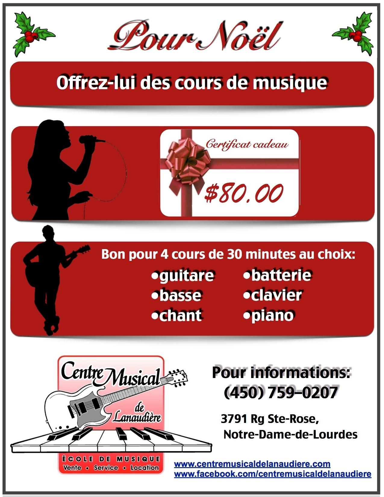Centre Musical de Lanaudière à Notre-Dame-de-Lourdes