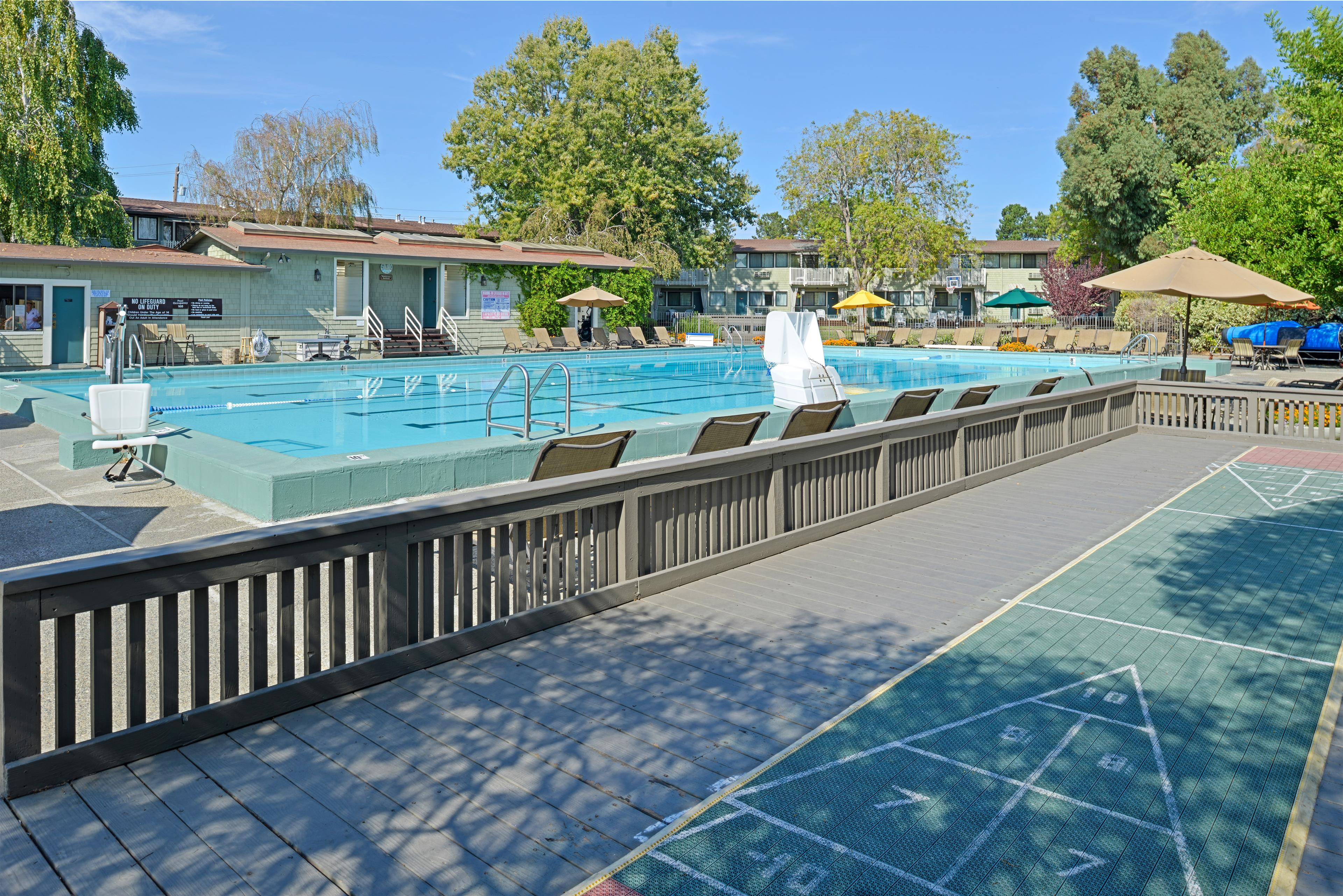 Outdoor Pool with Lap Lanes