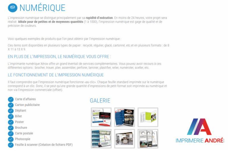 Imprimerie André à Saint-Jean-Sur-Richelieu