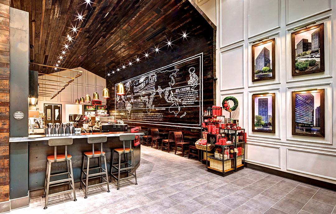 Aedifica à Montréal: Retail Design, Starbucks
