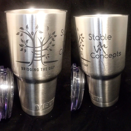 Custom Engraved Tumblers. Only $20. Any image. Same Day available. Stop by Today!