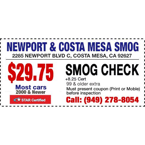 Newport And Costa Mesa Smog