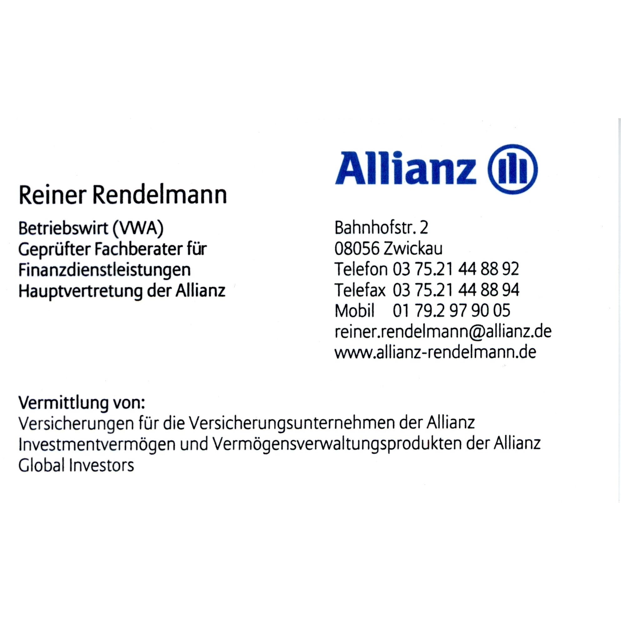 Allianz Reiner Rendelmann