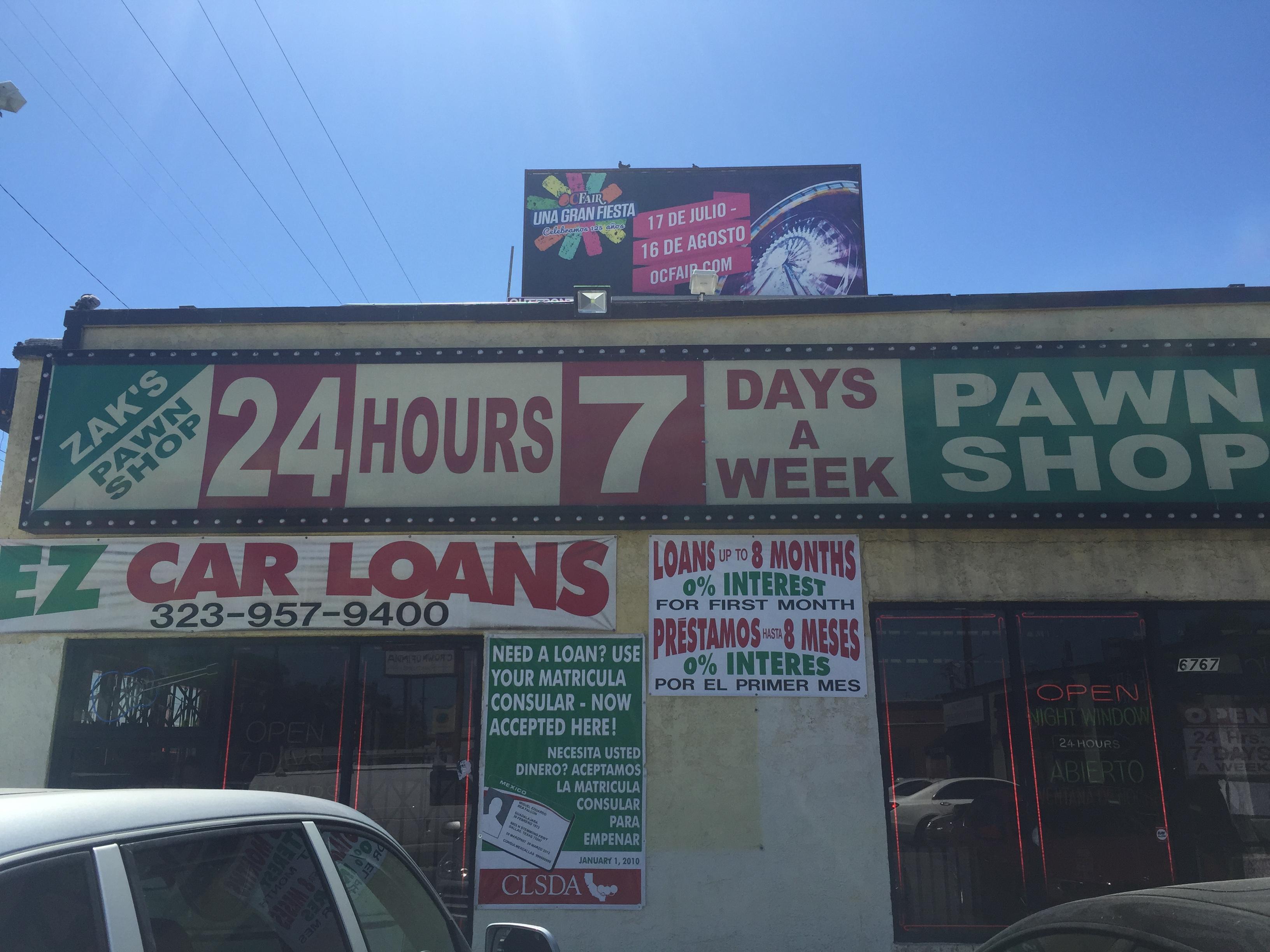 Car Title Loans Los Angeles: Zak's Pawn Shop & EZ Car Title Loans