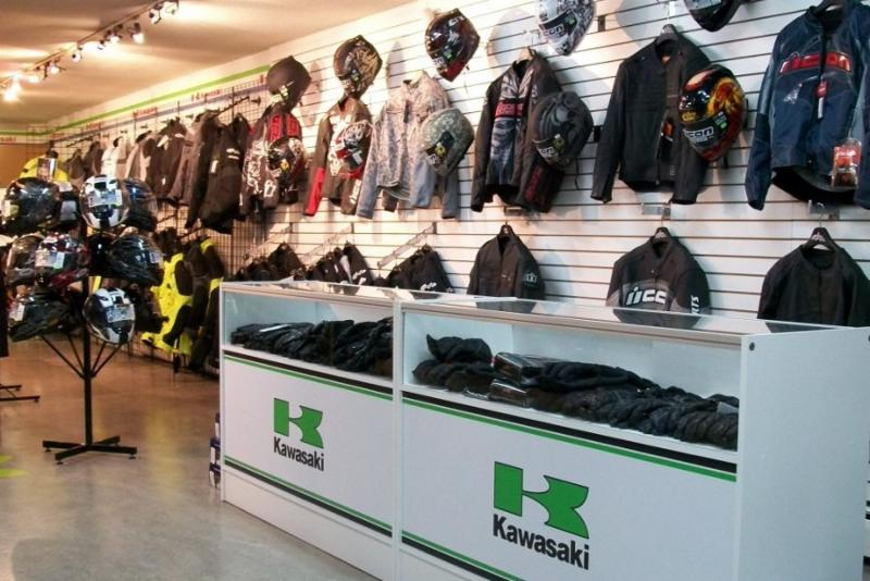 Burnaby Kawasaki in Burnaby: Accessories Department Showroom