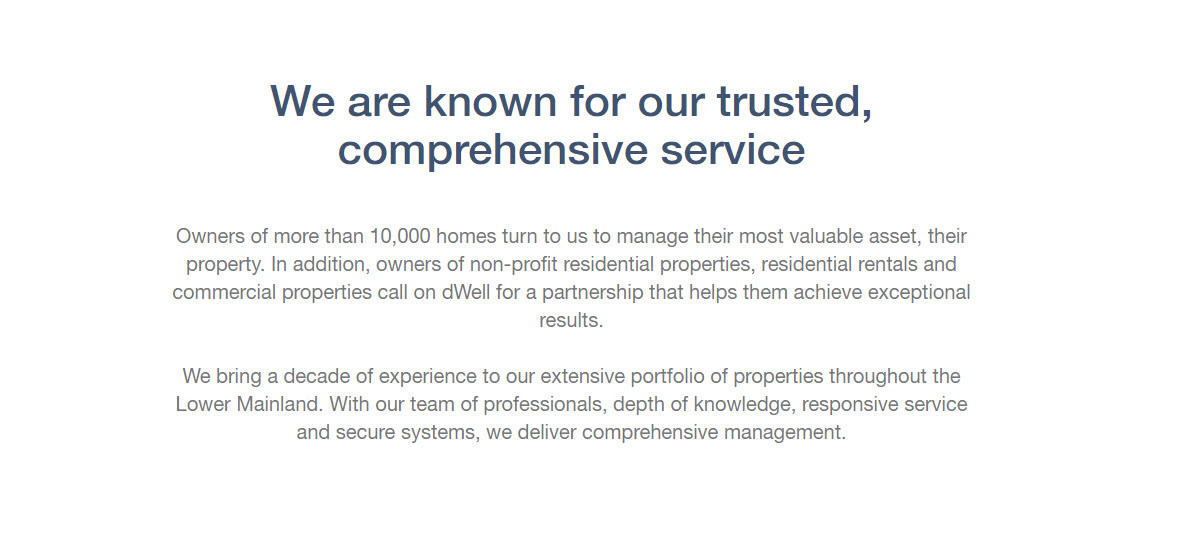 Dwell Property Management in Richmond: About Us