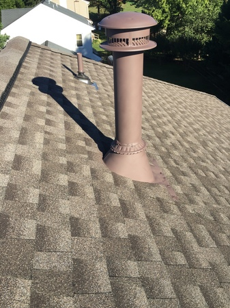 Installed chimney!