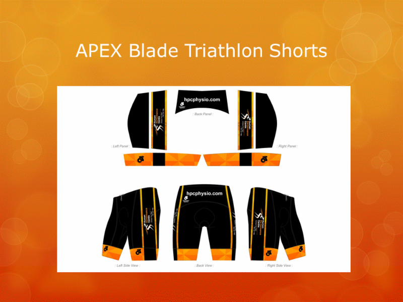 Human Performance Centre in Saint John: Are you in need of some HPC active wear? We can help!   Here are our APEX Blade Triathlon Shorts.