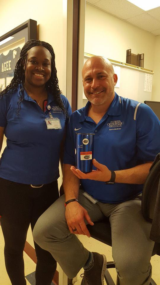 Dr. Sellman with Florida Orthopaedic Institute Staff Member